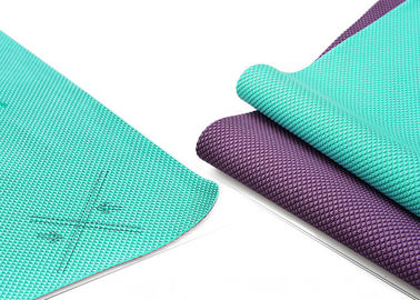 China Non Toxic Tpe Travel Yoga Mat , Lightweight 2mm Yoga Mat Eco Friendly supplier