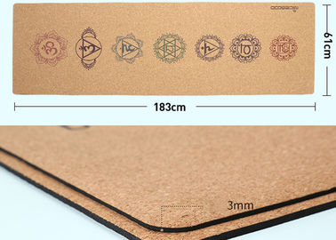 China Breathable Super Grip Cork Yoga Mat Toxic Free Chip Resistant For Beginners factory