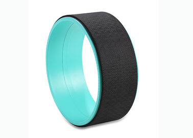 Cyan Plain Yoga Balance Wheel , Yoga Circle Prop Safe Sturdy Type Sweat Resistant